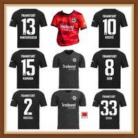 21 22 22 Eintracht Frankfurt Jovic Soccer Jerseys 2021 2022 Kostic Sow Silva Hinteregger Abraham Hasuebe Kamada Huric Football Kit Maillot de Futol