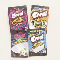 Errlli packaging mylar bag Sour terp Crawlers weedtarts 600mg Gummy Edibles 500mg hashtag honey Smell proof bags