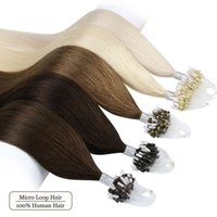 """Ugeat Loop Ring Human 14-24"""" Pure Color Real Extensions Micro Beads Hair Extension 50g pack"""