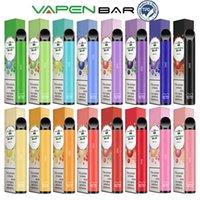VAPEN BAR TPD Cerficated Disposable Vape Pen E-Cigarettes Kits 650Puffs 2.0ml Capacity 20mg 2%NIC 500mAh Battery Cigs Vaporizer Pre-Filled Vapor EU UK USA Wholesale