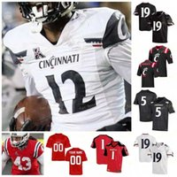 Cincinnati Bearcats Football Jersey NCAA College 5 Tavion Thomas 83 Josiah Deguara 42 Malik Vann 23 Gerrid Doaks 19 Ethan Tucky 1 Kahlil Lewis