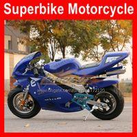 2 Takt Echte Motor Sport Kleine Scooter Locomotive MotoBike Moto Bike Hand Start Autobike 49CC / 50cc Mini Motorfiets Benzine Kart Kinderen Racing Autocycle