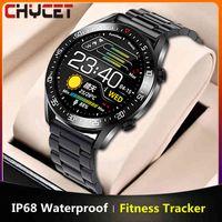 Designer Luxury Marca Relógios YCET Smart Men Freqüência cardíaca / monitor de pressão arterial IP68 impermeável Mulheres inteligentes Esportes para Android OS + Box