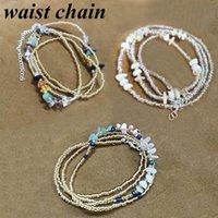Belts 1PC 2021 Ladies Sexy Abdomen Waist Chain Swimwear Bikini Beach Natural Stone Glass Rice Beads Body Jewelry