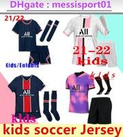 Çocuklar 2021 2022 MBappe Paris Futbol Formaları 3rd 4ht Kitleri 21/22 Maillot Icardi Erkek Tam Set Üniforma Futbol Gömlek