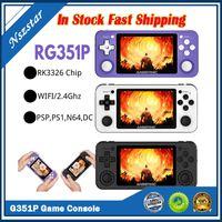 Anbernic R351P 3,5 polegadas IPS Handheld Retro Jogo Console RK3326 Open Source 3D Rocker 64G 5000 PS Neo MD Video Music Jogos Player