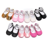 First Walkers HONGTEYA 2021 Summer Toddler Born Baby Girls Soft Sole Crib Shoes Size 0-18 Months PU Leather Infant Walker