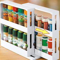 Кухонная специя Организатор стойки Многофункциональное вращающееся хранение 4 v2