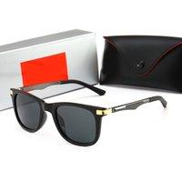 패션 디자이너 선글라스 클래식 레트로 파일럿 프레임 유리 렌즈 UV400 Sunnies Protection Eyewear 가죽 케이스