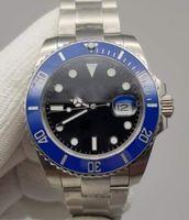 U1 Factory ST9 Steel Watch Big 116610LN Automatique Mécanique Noir Mécanique Noir Sapphire Date Montres en céramique Montres en acier inoxydable 41mm 116610 Bracelet de glisse