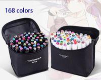 Touchfive 168 couleurs marqueurs d'art unique brosse stylo croquis marqueurs à base d'alcool à double tête manga dessin stylos Art Art Fournitures