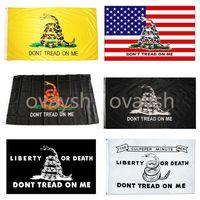 US Stock 90*150 Trump Flag 3*5 Feet 90X150cm Presidential Flags dont Tread on Me Snake Gadsden Flag