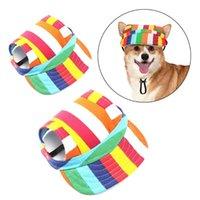 Hundebekleidung Haustier Sommer Outdoor Accessoires Kätzchen Daily Sun Hat Dekoration Katze Tragende Lieferungen mit verstellbarem Band