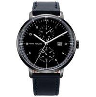 Relojes para hombre de cuarzo luminoso elegantes atmosféricos que no trabajan dos subdiales reloj de cristal de cristal Fecha de marcado simple Gentlemens WristWatches 0052G