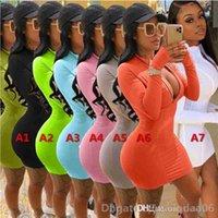 Frauenkleider Designer Gedruckt Reißverschluss Massivfarbe Multiple Farben erhältlich Casual Sexy Slim Tight Damen Rock