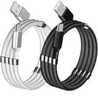 Fast Quick Charge 1m 3ft USb C Type c Micro USb Cable Magnetic Storage Tpe Cables For Samsung s8 s10 s20 note 20 htc xiaomi android phone pc