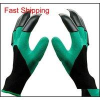 Garten Genie Handschuhe Wasserdichte Handschuhe mit Krallen zum Graben Pflanzung Besten Gartenarbeitsgeschenke für WO JLLMZY FFSHOP2001
