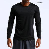 Açık 2021 Spor Hızlı Kurutma Giysileri erkek Uzun Kollu Açık Koşu Eğlence Sporları Tişört Basketbol Eğitim Spor Tops