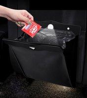 Car Organizer LED Universal Storage Bag Vehicle Trash Rubbish Bin Garbage Can Styling PU Leather Dust Case Seat Back Hanging Box