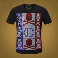 PP Rock Style Summer Men Designer T Shirt Diamond Skull Brand Abbigliamento Moda T-shirt da donna T-shirt da donna Alta qualità Hip-hop Tees 006