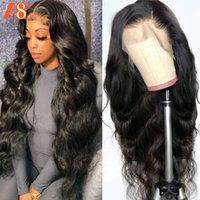 Lace Wigs Body Wave 13x4 Front Human Hair Pre Plucked Brazilian 30 32 34 Inch Transparent Frontal Wig For Black Women 150%