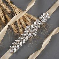 Cinturón de moda de las mujeres Boda nupcial de la boda Accesorios para el cinturón de boda del diambre de diamantes de imitación Cinturón de la dama de honor para el vestido de novia