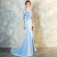 Formal 2021 Nova Chegada Long EveningDresses Elegante Lantejoulas Vestido de Festa Prom Robe de Soiree Sereia Vestido Noite