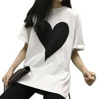 Spade Big Love Print Harajuku Sciolto Donne T Shirt in cotone Bianco Manica Corta O Collo Tees Top Brand Fashion Brand