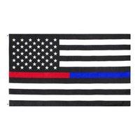 USA Aktien Amerika Präsidentschaftswahlen Flaggen Präsidentschaftskampagnen Banner 90 * 150cm US-Flaggen Blue Line USA-Flaggen nicht Gadsden-Flagge 775 K2