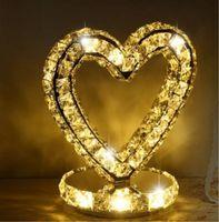 현대 크리스탈 책상 램프 침실 머리맡 테이블 라이트 사랑 문 반지 LED 장식 빛 흰색 / 따뜻한 조명 30W 소스 독서