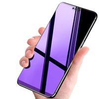 مكافحة الأزرق حماية البصر 9H الزجاج المقسى حامي الشاشة فليم انفجار منحني منحني غطاء قسط درع ل iPhone 13 برو ماكس 12 ميني 11 XS XR X 8 7 6 6S Plus SE