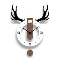 Wall Clocks Fashion Swing Clock Creative Living Room Mute Modern Charts Digital Vintage Home Decor Kitchen