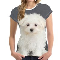 DIY Customized Fashion Lovely Dog 3D Print Women Ladies Girls T-Shirt Animal Harajuku Round Neck Short Sleeve Unisex Summer Tops & Tees XXS-6XL