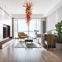 Lampadari del ciondolo di vetro del design del designer decorativo unico Nuova garanzia di arrivo Vendita calda variopinta lampadario di vetro soffiato a mano per la casa dell'hotel