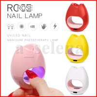 16W Mini Portátil En forma de rosa UV LED LED USB Lámpara de uñas Secadora Curing Polish Art Manicure Pedicure Machine Tools