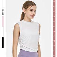 Fashion design tassel style breathable Yoga suit sleeveless vest women's leisure outdoor sports fitness short sleeve top YJ007