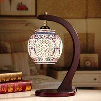 Chinesische Hotel Schreibtischlampe Keramik-Tischlampenhöhe-Quatity