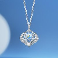 Pendant Necklaces Silver Plated Shell Clavicle Opal Crystal Crown Charm Necklace For Women Girls Party Jewelry Choker