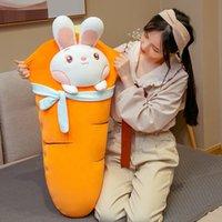 Boneca de brinquedo de pelúcia de coelho bonito boneca grande macio kawaii coelho dormir travesseiro para presente menina 43inch 110cm dy50952
