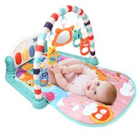 QWZ Baby Baby Rattles Play Mat Educational Puzzle Alfombra Con Piano Keyboard Lullaby Music Kids Gym Gym Crawling Activity Toys 210831