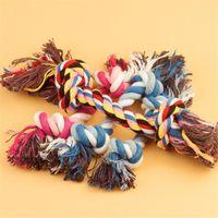 1 قطع الحيوانات الأليفة الكلاب إمدادات الحيوانات الأليفة الكلب جرو القطن مضغ عقدة لعبة دائم مضفر العظام حبل 17 سنتيمتر مضحك أداة عشوائية اللون
