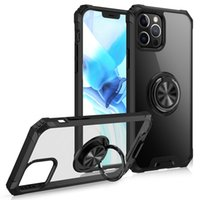 Ring Holder Kickstand Mirror Clear Cell Phone Cases for iPhone 8 X XR XS 11 Pro Max 12 Mini SE2 Samsung S20 S21 FE Note 20 Ultra A10s A12 5G A20s A32 A50s Moto G Fast Back Cover