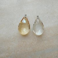 10pcs lot 50mm champagne or clear pipa Chandelier Crystal Hanging Pendants with m4 screw Shinning Prisms Chandeliers