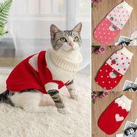 Sale-Cat Dog Sweter Dzianiny Ubrania Pet Małe Psy Kotki Zimowe Kostium Kostium Chihuahua Płaszcz Outfit Kamizelka Zwierzęta Akcesoria