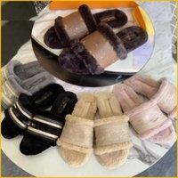 Mujeres París zapatillas de algodón amor invierno sandalia invierno negro marrón blanco rosa zapatilla