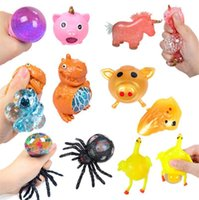 Desabafar esprema brinquedo tpr espremes de descompressão cor beads bala de uva halloween grande música de aranha