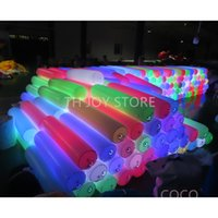 free air ship to door,newest design inflatable touching pillar, 1m 1.5m 2m long LED papping touch bube
