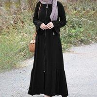Ethnic Clothing Casual Crew Neck Abaya Maxi Dress ZANZEA Women Retro Sundress Fashion Muslim Dubai Robe Kaftan Flare Sleeve Flounce Dresses