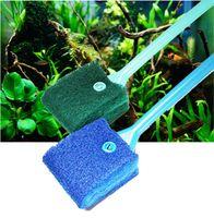 Aquarium Terrain de poisson Outils de nettoyage Verre Plante Pinceaux flottant Fenêtre Nettoyable Algae Scure Sponge Accessoires