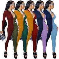 مصمم النساء حللا ضئيلة مثير الربط التباين خياطة الخامس الرقبة سستة السروال القصير نيسيس bodycon أزياء السيدات capris s-xxl